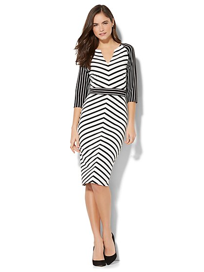 Striped Sheath Dress - New York & Company