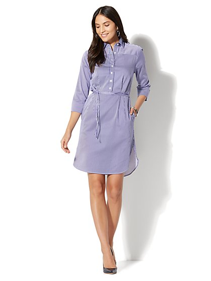 Striped Shirt Dress - New York & Company
