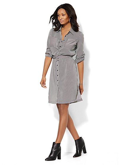 Striped Shirtdress  - New York & Company