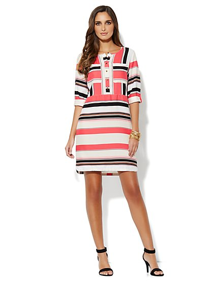 Striped Soft Shirtdress