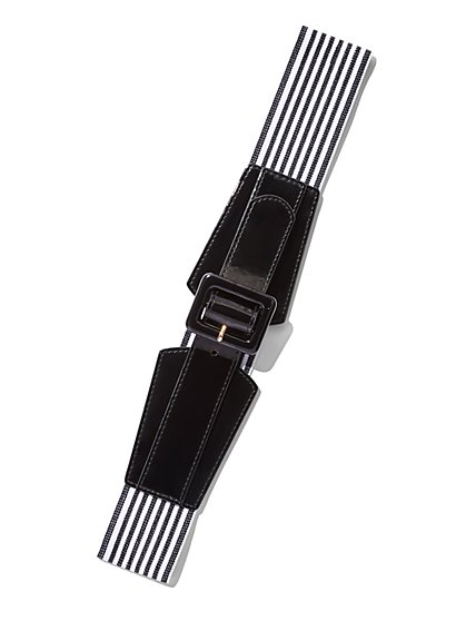 Striped Stretch Belt  - New York & Company