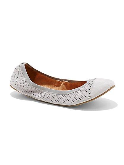Studded Ballerina Flat   - New York & Company