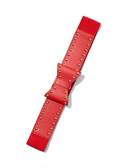 Studded Bow Belt  - New York & Company