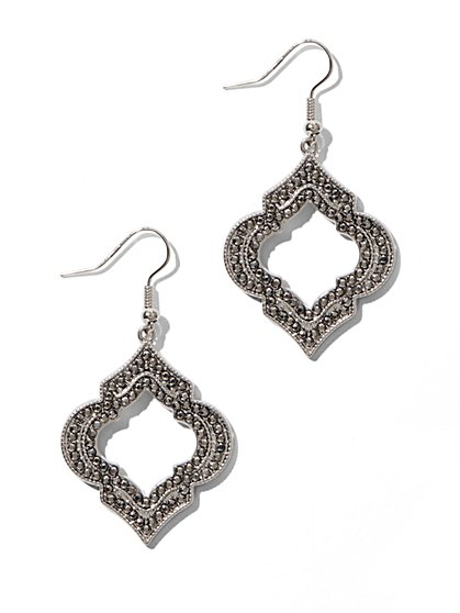 Studded Cut-Out Drop Earrings - New York & Company