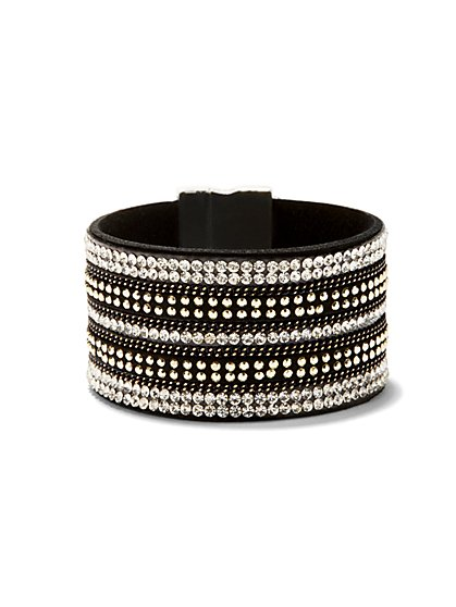 Studded Faux-Leather Bracelet  - New York & Company