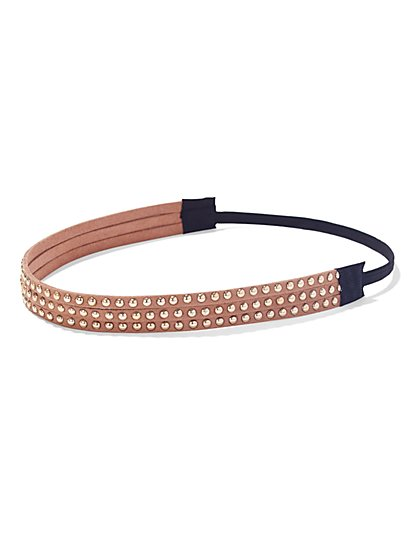 Studded Faux-Suede Headband - New York & Company