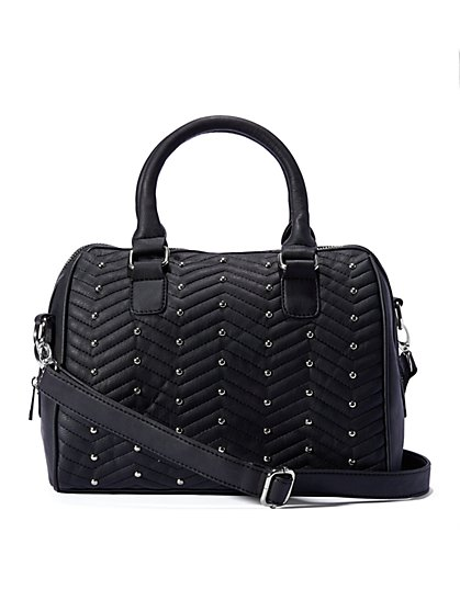 Studded Quilted Satchel