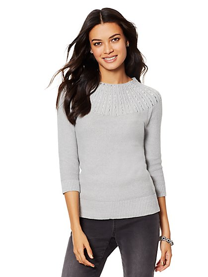 Studded Sweater - New York & Company