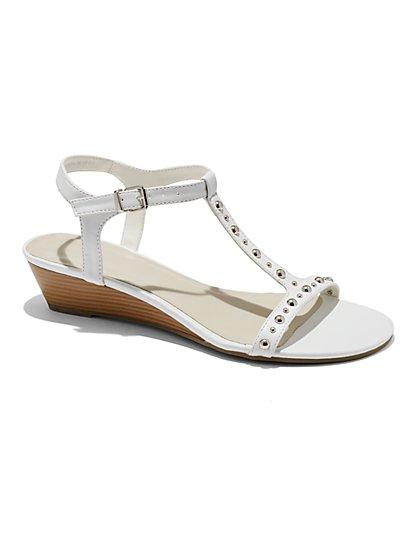 Studded T-Strap Sandal - New York & Company