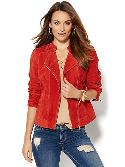 Suede Moto Jacket - New York & Company