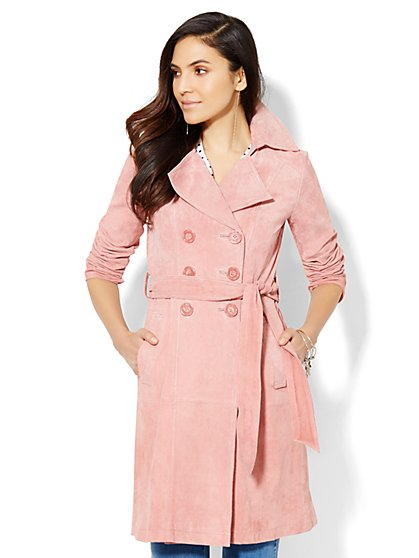 Suede Trench Coat  - New York & Company