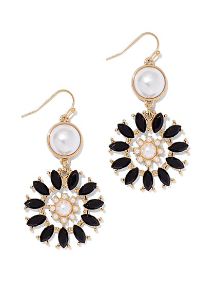 Sunburst Goldtone Drop Earring  - New York & Company