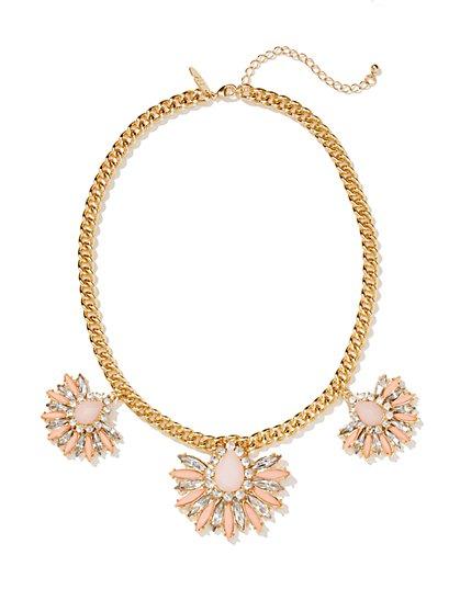 Sunburst Three-Pendant Necklace  - New York & Company