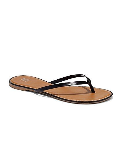 Sunshine Sandal - Patent Trim Flop-Flop - New York & Company