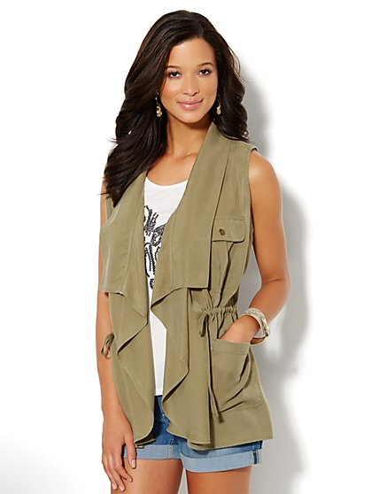 Super-Soft Safari Vest - New York & Company