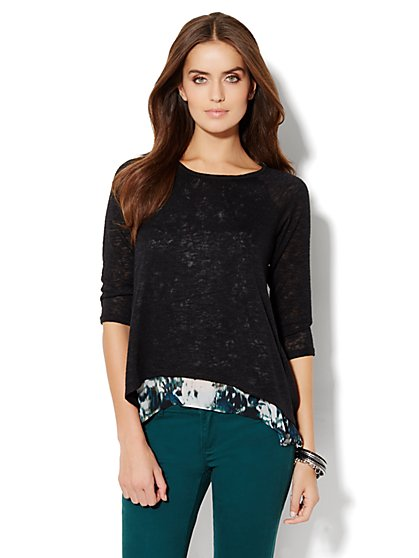 Sweater Overlay Top  - New York & Company