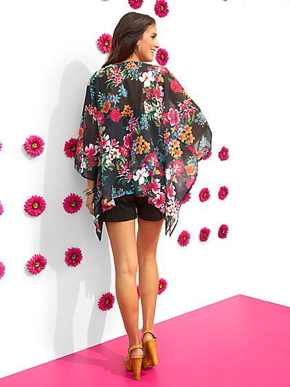 Sweet Pea - Garden Party Floral Kimono Jacket - New York & Company