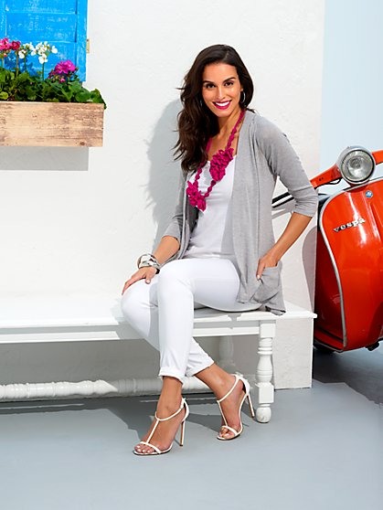 Sweet Pea - Light & Airy Flyaway Cardigan  - New York & Company
