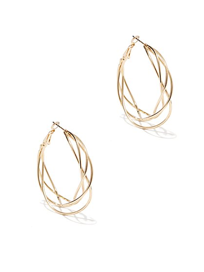Swirled Hoop Earring  - New York & Company