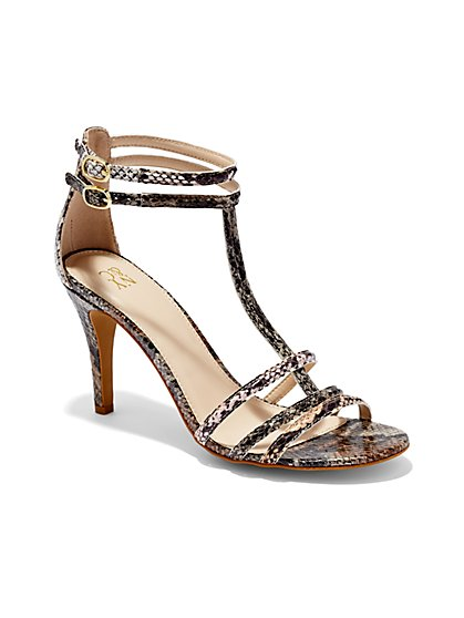 T-Strap High-Heel Sandal  - New York & Company