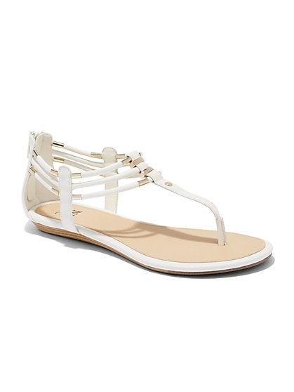 T-Strap Thong Sandal  - New York & Company