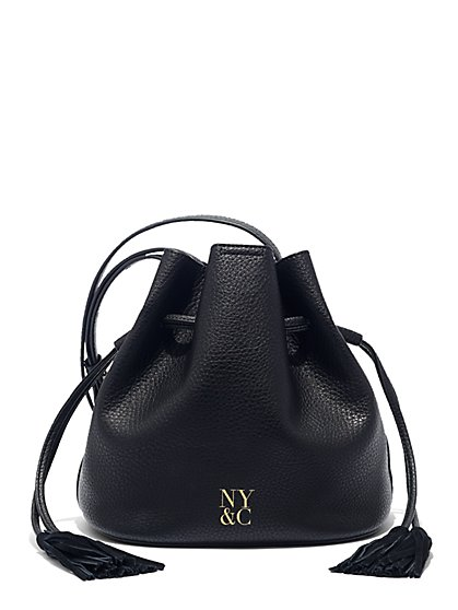 Tassel-Accent Bucket Bag  - New York & Company