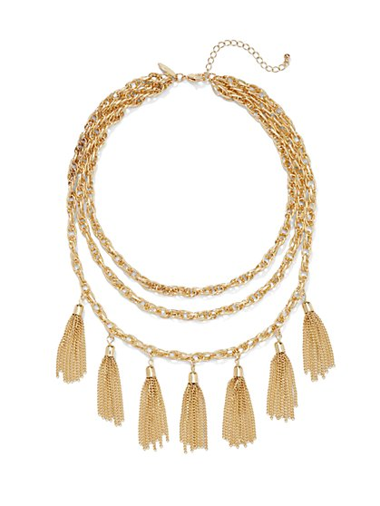 Tassel Bib Necklace  - New York & Company