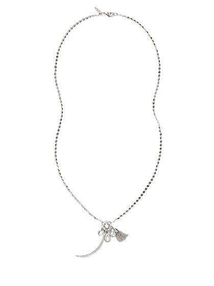 Tassel & Charm Pendant Necklace  - New York & Company