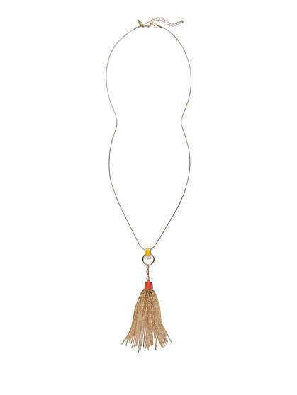 Tassel/Circle Pendant Necklace  - New York & Company
