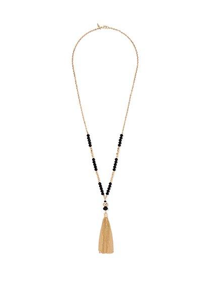 Tassel Lariat Necklace  - New York & Company