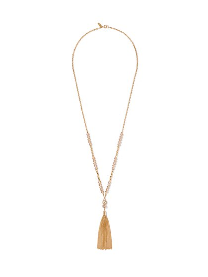 Tassel Lariat Necklace  - New York & Company