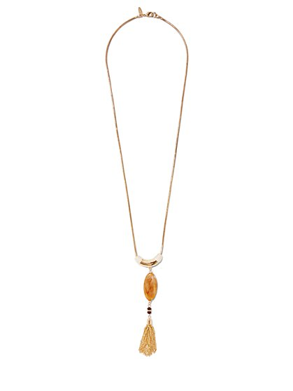 Tassel Pendant Necklace  - New York & Company
