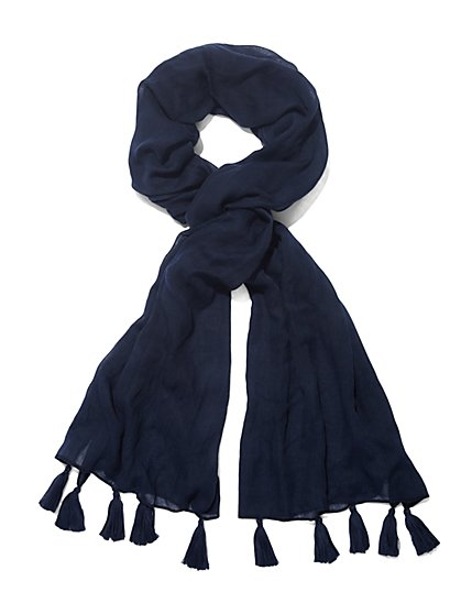 Tassel Scarf - Solid  - New York & Company
