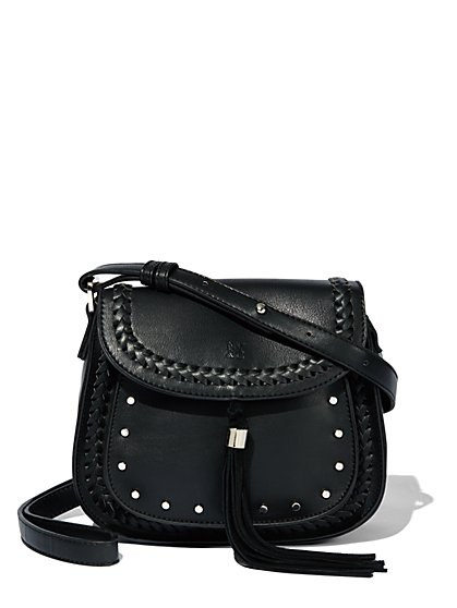 Tassel-Trim & Braided Satchel  - New York & Company