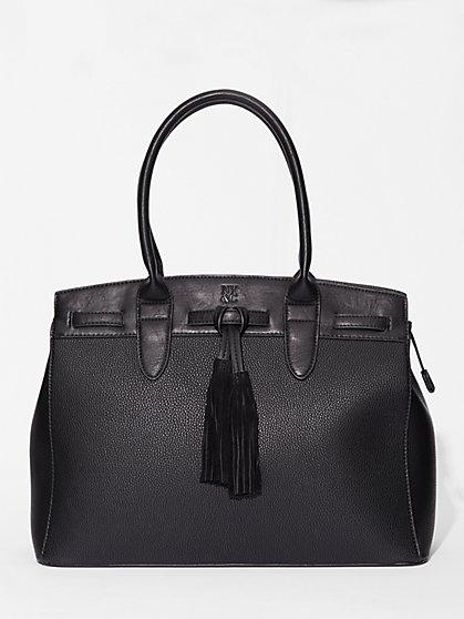 Tassel-Trim Structured Tote Bag   - New York & Company