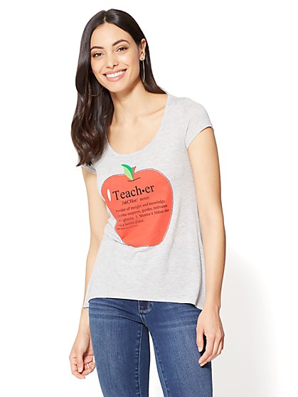 Teacher Definition Graphic Logo Tee - New York & Company