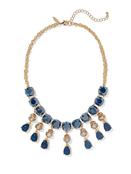 Teadrop Blue Cabochon Necklace - New York & Company