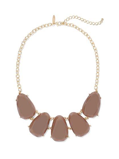 Teardrop Bib Necklace  - New York & Company