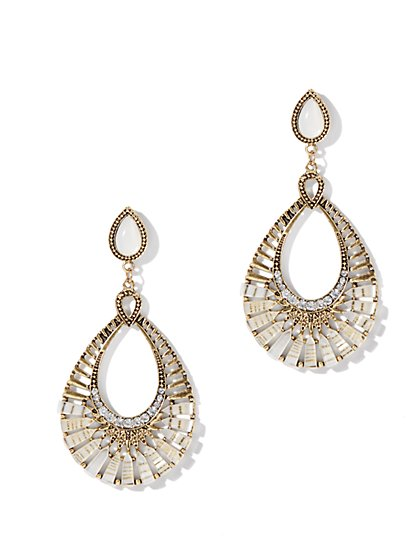 Teardrop Cut-Out Earring