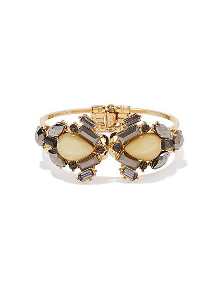 Teardrop Faux Stone Cluster Bracelet - New York & Company