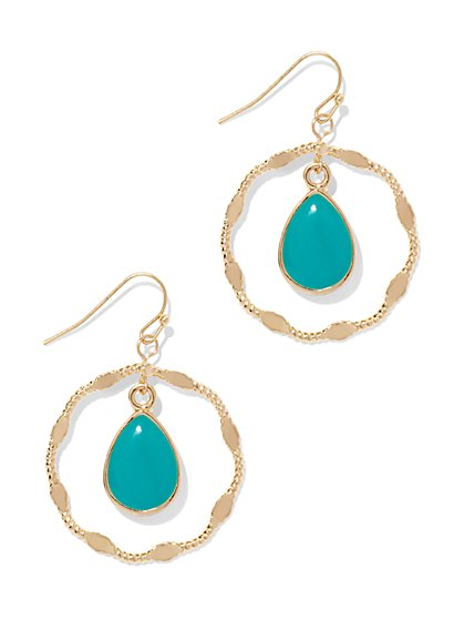 Teardrop Hoop Earring  - New York & Company
