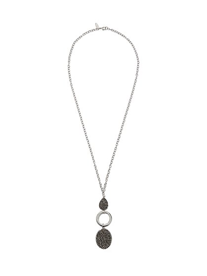 Teardrop- & Oval-Shaped Pendant Necklace  - New York & Company