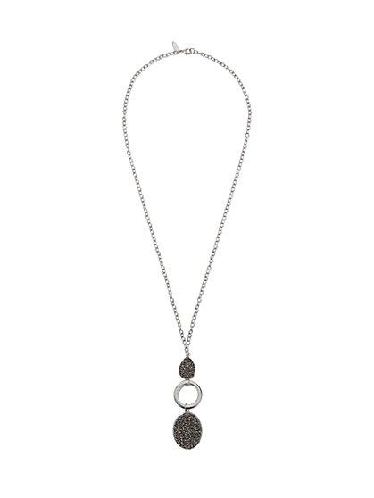Teardrop- & Oval-Shaped Pendant Necklace  - New York & Company