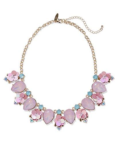 Teardrop Sequin Collar Necklace  - New York & Company