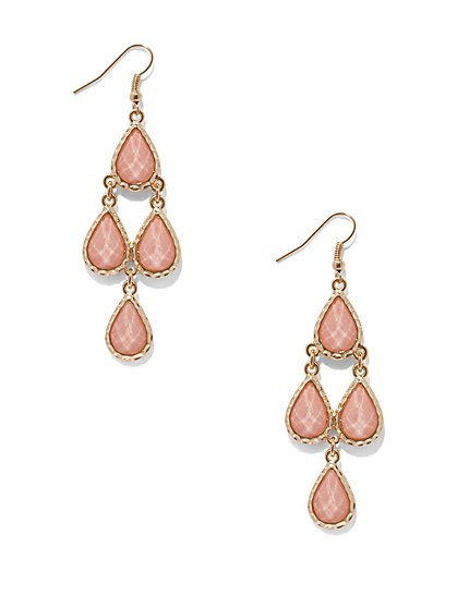 Teardrop-Shaped Chandelier Earring  - New York & Company