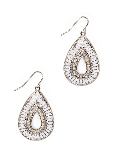 Teardrop-Shaped Drop Earring  - New York & Company