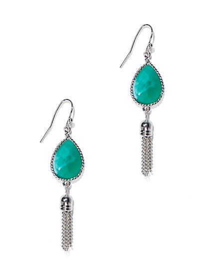 Teardrop Tassel Earring  - New York & Company