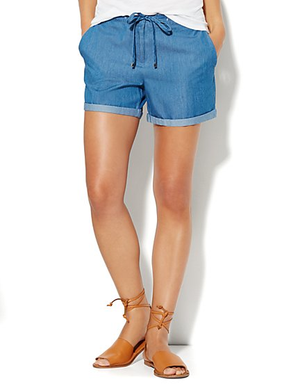 Tencel Drawstring Shorts  - New York & Company