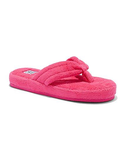 Terrycloth Flip-Flop Sandal  - New York & Company