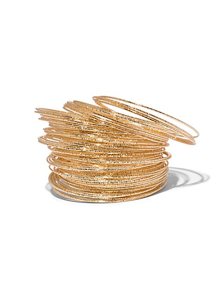 Textured Bangle Set - New York & Company